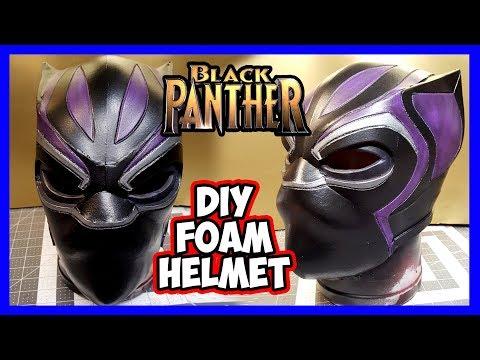 DIY Black Panther Foam Helmet v2