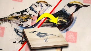 Fix Photo Transfers - Print On Wood, Easy Label Release Paper Method