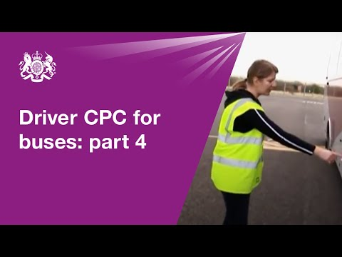 Driver CPC for buses: part 4 - practical demonstration test