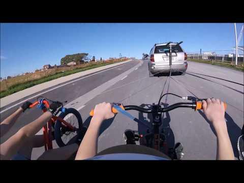 Drift triking on abandoned Road - New Zealand