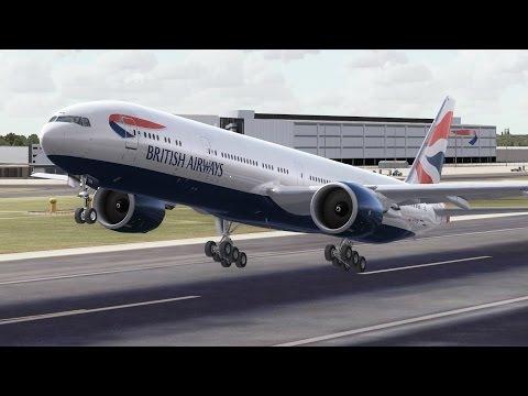 FSX HD PMDG 777-300 BRITISH AIRWAYS 27 London to Hong Kong