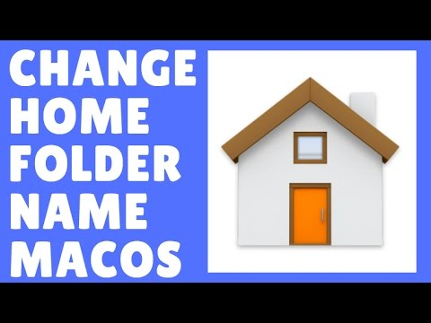 How to change the home folder name macOS Sierra