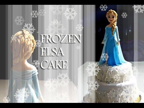 ::sugarcraft::frozen elsa cake 겨울왕국 엘사 케이크 만들기