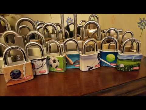 Single Pin Picking A 40mm Abus My Sport Hand Ball Padlock. All Are Picked And On Display Now