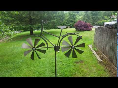 Bicycle Wind Spinner   Kinetic Windmill   Garden Whirligig   Wind Spinners Metal   Bicycle Art