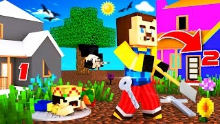Minecraft - HELLO NEIGHBOR - SECRET SECOND HOUSE ?!