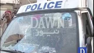 Firing on Police van in Karachi