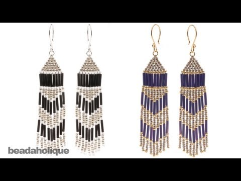 How to Make Brick Stitch and Fringe Beaded Earrings