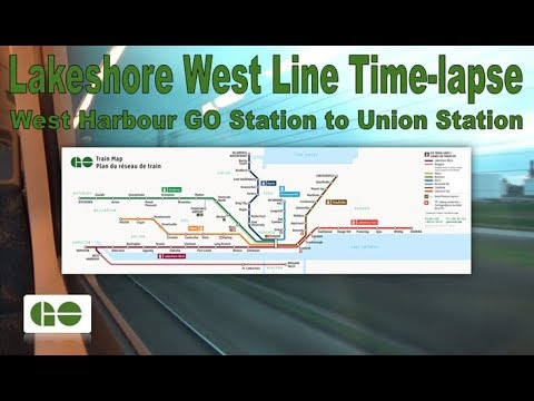 GO Transit - Lakeshore West Line Time-lapse (West Harbour GO Station to Union Station)