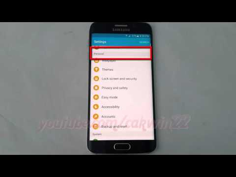 Android Lollipop : How to turn on or turn off Weather Notifications on Samsung Galaxy S6