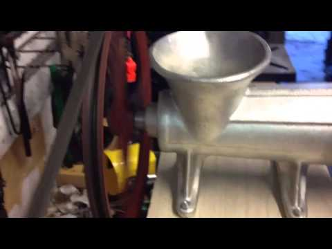 Homemade Electric Meat Grinder