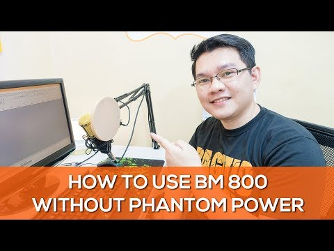How to use BM 800 Condenser Microphone without phantom power + How to edit BM 800 audio