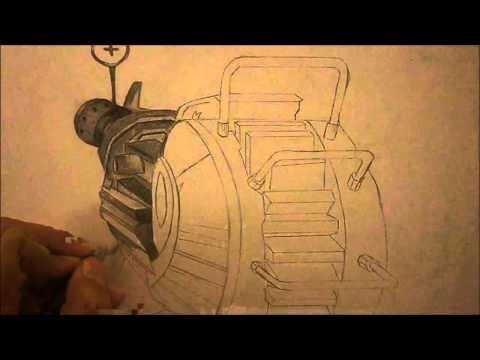 Black Ops 2 | Ray Gun Speed Drawing