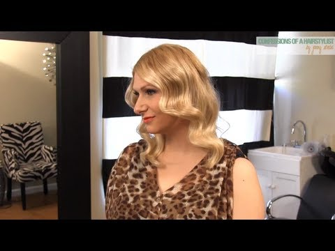 Vintage Waves Using a Curl Stick: Inspired by Great Gatsby Hair