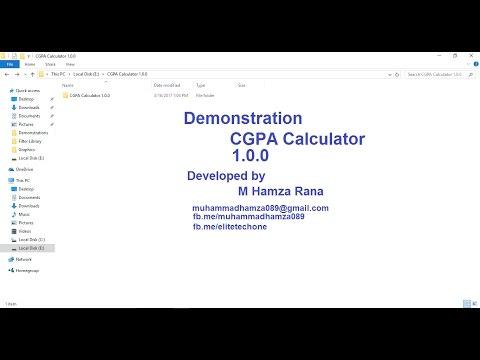 Gpa Cgpa calculator demonstration