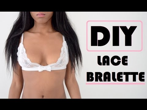 DIY | HOW TO MAKE A LACE BRALETTE/BRA (pattern available)