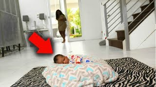 Download LEAVING BABY HOME ALONE PRANK ON GIRLFRIEND !!! Video