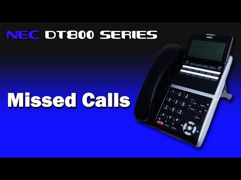 NEC DT800 Series - Missed Calls