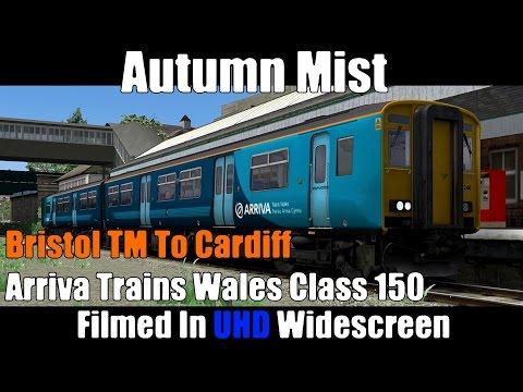Autumn Mist - Bristol TM to Cardiff [Arriva Trains Wales Class 150]