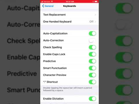iPhone - Turn OFF Autocorrect for Typing Texts and Emails