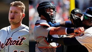 JaCoby Jones Hit IN THE FACE by Pitch, Dugouts Cleared in Brawl Between Tigers & Twins