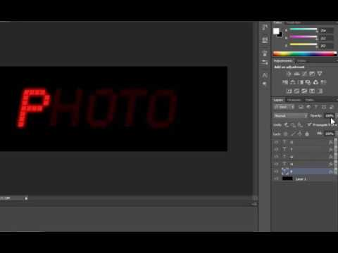 How to create Digital Board  text GIF image in Photoshop.