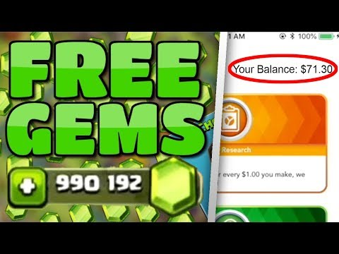 FASTEST FREE GEMS: $6 Guaranteed Within 1 Minute! (Proof) | Earn Money Online for Clash of Clans