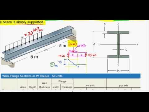 Simplified Design of a Steel Beam - Exam Problem, F12 (Nectarine)