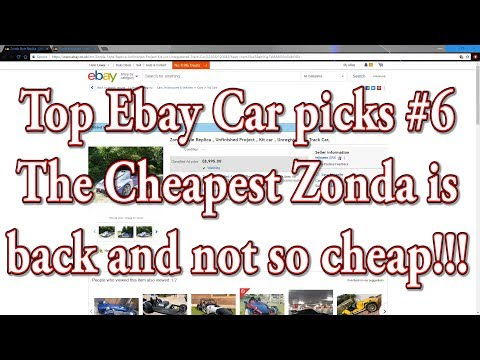 Top Ebay car picks #6 - Zonda is being flipped!