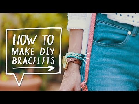 DIY CHAIN BRACELETS | How to Make a DIY Woven Chain Bracelet Out of Strings! ✨ Alejandra's Styles