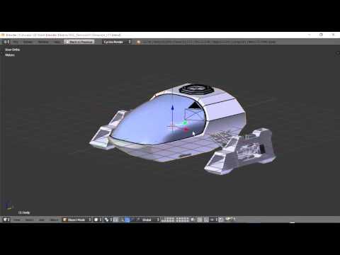 Blender For Noobs - Spaceship tutorial - Part 11 of 12