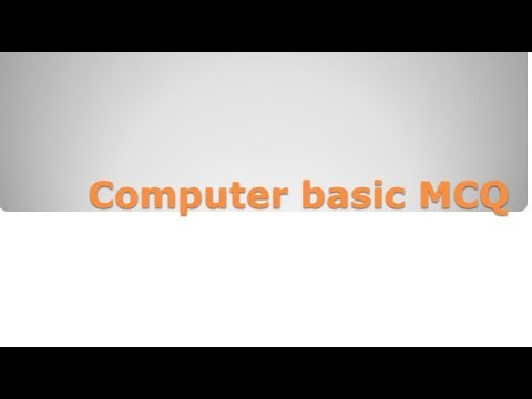 Computer Basic MCQ