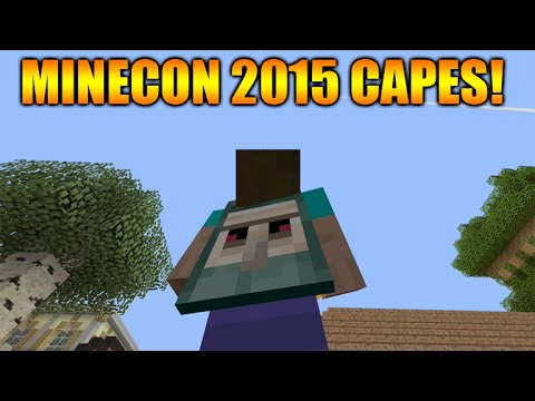 ★Minecraft Xbox 360 + PS3 NEW! Minecon 2015 Free Skin Pack Showcase - 8 Different Cape Skins★