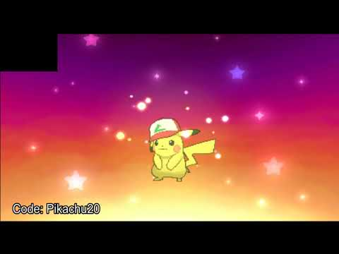 Pokemon Sun & Moon - How To Get Ash Pikachu (Kanto) Mystery Gift Event!