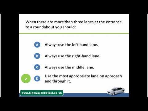 Theory Test Questions UK