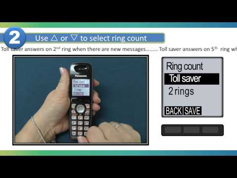 2013 Models How to Change the Answering Machine Ring count on your Panasonic Cordless telephone