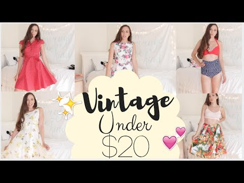 Vintage Try on Haul UNDER $20! Testing Retro Clothes From Amazon