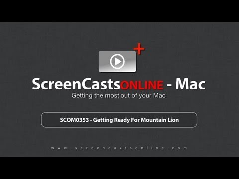 SCOM0353 - Getting Ready For Mountain Lion