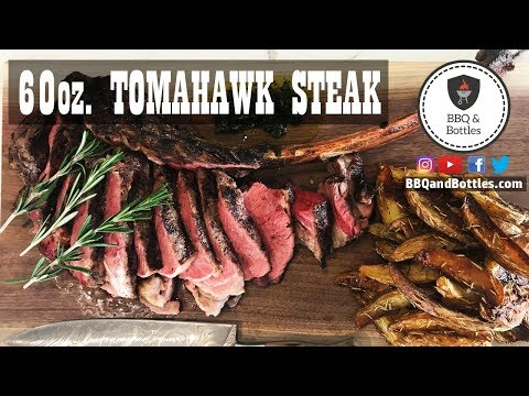 Grilling a 60 oz Tomahawk Ribeye Steak