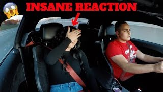 HOT GIRL REACTING TO MY HELLCAT!! *SHE WAS SCARED*