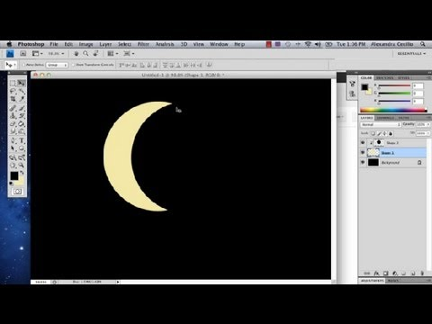 How to Draw a Crescent in Photoshop : Photoshop Tutorials