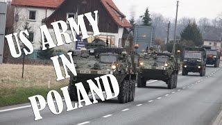 US Army in Poland / Break at the state border / Przejazd wojsk amerykańskich / Granica Czeska