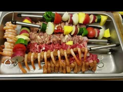 WSM Grilled Steak n Chicken Kabobs