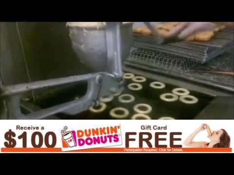 How Dunkin Donuts Makes Donuts + Free Dunkin Donuts Gift Card