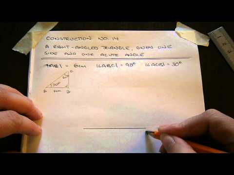 Construction No  14   A Right Angled Triangle