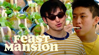 Joji and Rich Brian Make a Classic Japanese Street Food | Feast Mansion