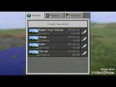 Minecraft pe 0.15.3 automatic rabbit trap tutorial