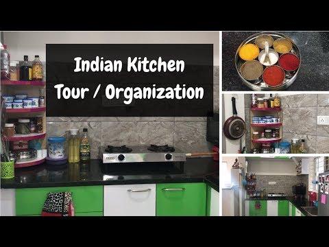 Indian Kitchen Organization Ideas | Small Indian Kitchen Tour l Saloni Srivastava