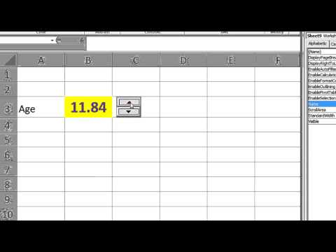 Excel VBA ActiveX Series #5 SpinButton - Incrementing and decrementing a cells number, Move controls