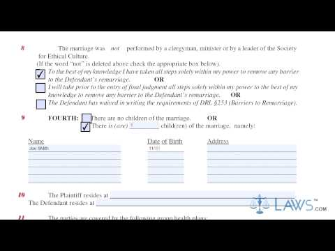 New York Verified Complaint Action For Divorce UD 2